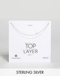 Серебряное ожерелье‑чокер с двумя цепочками Dogeared - Серебряный