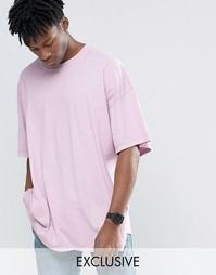 Окрашенная oversize‑футболка Reclaimed Vintage - Розовый