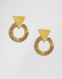 Серьги-гвоздики Made - Золотой