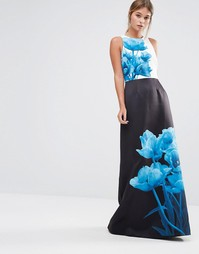 Платье макси с принтом Ted Baker Narisa - Мульти