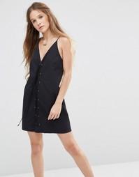 Платье мини с кружевом Stevie May Take You Down - Черный