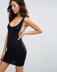 Платье мини с углубленной проймой ASOS - Черный