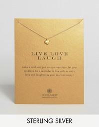 Позолоченное ожерелье Dogeared Make A Wish - Live Love Laugh - Золотой