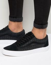 Черные кроссовки в клетку Vans Old Skool V004OJJRK - Черный