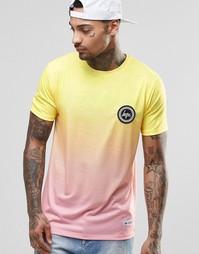 Футболка с логотипом на груди и эффектом омбре Hype - Желтый