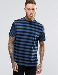 Синяя футболка с контрастными полосками Paul Smith - Indigo - индиго