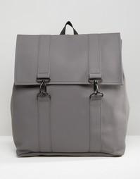 Серый рюкзак Rains MSN - Серый