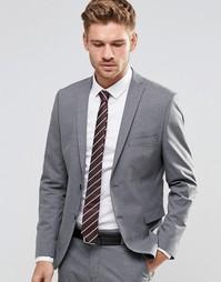 Пиджак узкого кроя из эластичной ткани Selected Homme