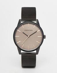 Классические коричневые часы с сетчатым браслетом UNKNOWN - Черный