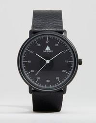 Черные часы с белыми стрелками ASOS - Черный