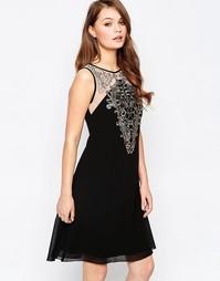 Платье-туника с аппликацией Little Mistress - Черный и золотой
