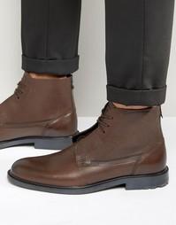 Кожаные ботинки со шнуровкой Boss Orange Cultroot - Коричневый
