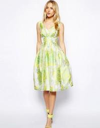 Жаккардовое платье миди для выпускного ASOS - Светло-зеленый