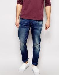 Суженные книзу джинсы G Star 3301 Low Firro - Выбеленный посередине