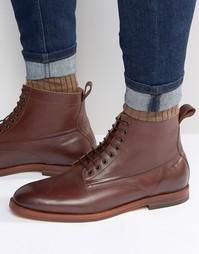 Кожаные ботинки Hudson London Forge - Коричневый