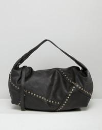 Сумка через плечо с люверсами Yoki Fashion - Черный