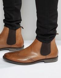 Кожаные ботинки челси Base London - Рыжий