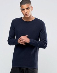 Джемпер в рубчик с рукавами реглан и круглым вырезом Selected Homme