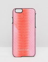 Кожаный чехол для iPhone 6 со змеиным принтом Calvin Klein