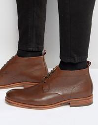 Кожаные ботинки Hudson London Lenin - Коричневый