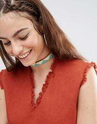 Короткое кожаное ожерелье Made - Мульти