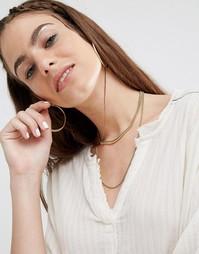 Многорядное ожерелье-чокер из цепочек Made - Золотой