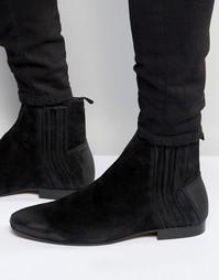 Замшевые ботинки челси Hudson London Larner - Черный