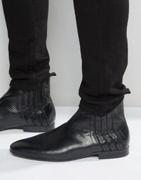 Кожаные ботинки челси Hudson London Larner - Черный