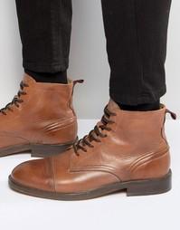 Кожаные ботинки Hudson London Palmer - Рыжий
