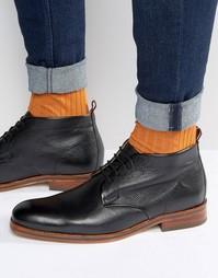 Кожаные ботинки Hudson London Lenin - Черный