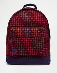 Красно-черный плетеный рюкзак Mi-Pac - Темно-синий