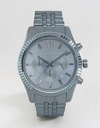 Синие часы с хронографом из нержавеющей стали Michael Kors Lexington M