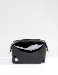 Лакированная черная косметичка Mi-Pac - Черный