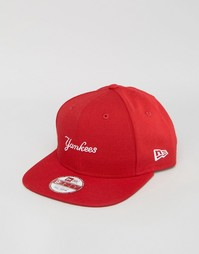 Шерстяная бейсболка New Era 9Fifty NY Yankees - Красный