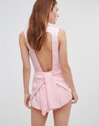 Комбинезон с вырезом на спине Stylestalker - Бледно-розовый