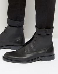 Кожаные ботинки со шнуровкой Boss Orange Cultroot - Черный