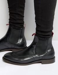 Кожаные ботинки челси Hudson London Breslin - Черный