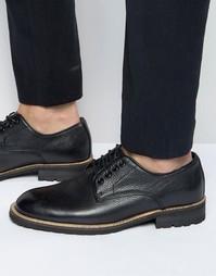 Черные кожаные оксфордские туфли Bellfield - Черный