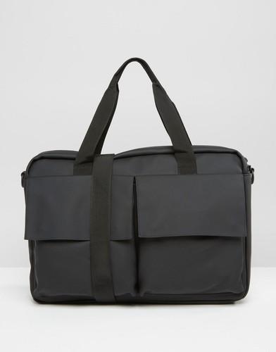 Черная сумка-портфель Rains Pace - Черный