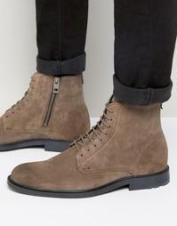 Замшевые ботинки на шнурках Boss Orange Cultroot - Серый