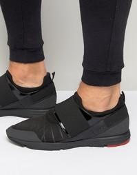 Кроссовки с эластичными вставками Hugo Boss Runner - Черный