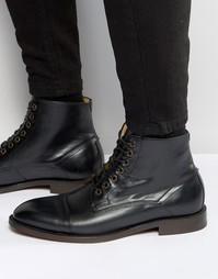 Кожаные ботинки Hudson London Seymour - Черный