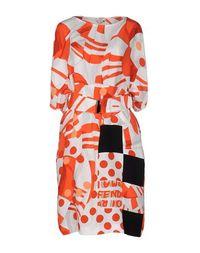 Платье до колена Fendi