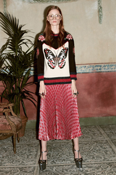Плиссированная юбка с люрексом Gucci