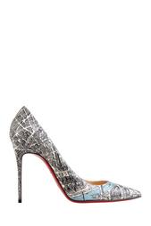 Разноцветные Кожаные туфли Decollete 100 Christian Louboutin