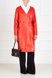 Кожаное пальто Nina Ricci