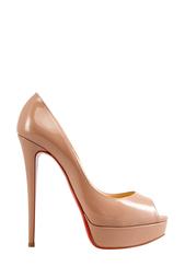Туфли из лакированной кожи Lady Peep 150 Christian Louboutin