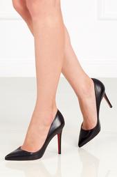 Черные Кожаные туфли Pigalle 100 Christian Louboutin