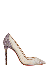 Розовые Туфли Follies Strass 100 Christian Louboutin