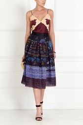 Шелковая юбка Gourji
